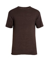 Simon Miller Kohide Crew Neck Cotton Knit T Shirt Black