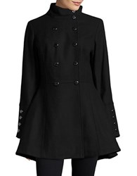 Calvin Klein Double Breasted Wool Blend Coat Black