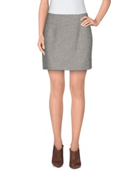 Atto Mini Skirts Light Grey