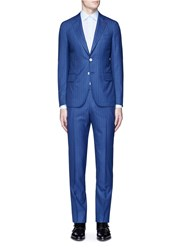Isaia 'Cortina' Pinstripe Wool Suit Blue