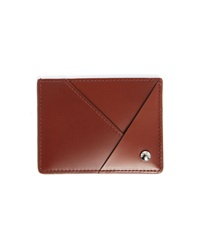Carven Cognac Grained Leather Card Wallet