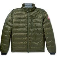 Canada Goose Lodge Packable Quilted Ripstop Shell Down Jacket Green