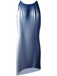 Stefano Mortari Pleated Tank Dress Blue