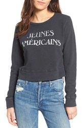 Mother Women's Matchbox Crop Cotton Sweatshirt