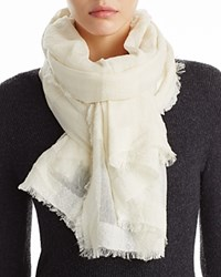 Fraas Textured Scarf Ivory
