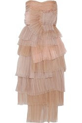 Burberry Tiered Silk Organza Dress Pink