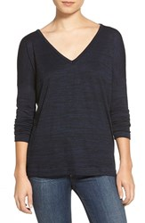 Rag And Bone Women's Rag And Bone Jean Long Sleeve Tee Navy