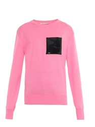 Christopher Kane Patent Leather Pocket Sweater