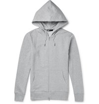 Y 3 Cotton Jersey Hoodie Gray