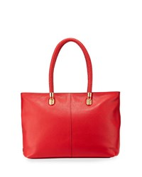 Cole Haan Benson Large Leather Tote Cranberry