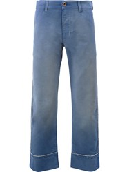 Gucci Straight Cropped Jeans Blue