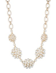 Anne Klein Cluster Necklace Gold