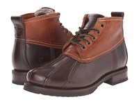Frye Veronica Duck Chukka Espresso Multi Smooth Pull Up Oiled Vintage Women's Lace Up Boots Brown