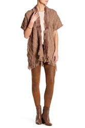 Love Token Genuine Rabbit Fur Knit Short Sleeve Cardigan Beige