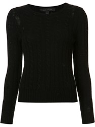 Marc Jacobs Holey Cable Knit Top Black