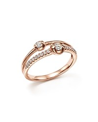 Bloomingdale's Diamond Two Stone Ring In 14K Rose Gold .30 Ct. T.W.
