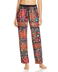 Josie Quilted Mauve Pants Black Multi