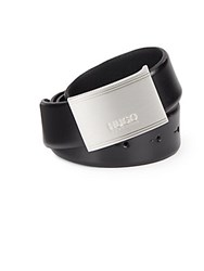 Hugo Boss Ektoro Black Leather Belt