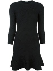 Alexander Mcqueen Jacquard Mini Dress Black