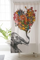 Urban Outfitters Rococcola Happy Elephant Shower Curtain Multi