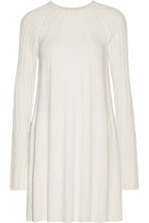 Elizabeth And James Gerri Ribbed Knit Mini Dress Ivory