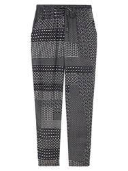 East Geo Print Harem Trousers Navy