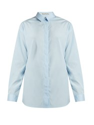 Acne Studios Bela Cotton Poplin Shirt Light Blue