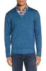 Morgano Men's V Neck Merino Wool Sweater