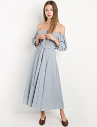 Pixie Market Cindy Stripe Off The Shoulder Dress By New Revival