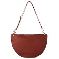 Whistles Montrose Leather Half Moon Bag Red