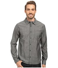 Smartwool Summit County Chambray Long Sleeve Shirt Charcoal Men's Clothing Gray