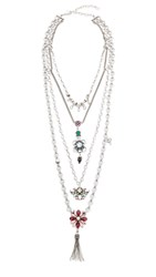 Dannijo Emerie Layered Necklace Ox Silver Multi