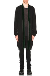 Haider Ackermann Belted Cardigan With Contrast Tape In Black
