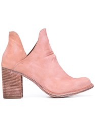 Officine Creative Cut Out Ankle Boots Women Leather 39 Pink Purple