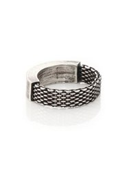 Title Of Work Sterling Silver Mesh And Solid Ring