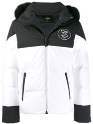 Fendi Removable Hood Ski Down Jacket White