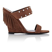 Giuseppe Zanotti Women's Double Band Wedge Sandals Brown