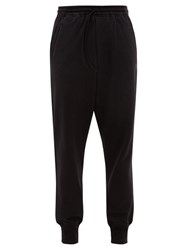Y 3 Classic Double Pocket Cotton Jersey Track Pants Black