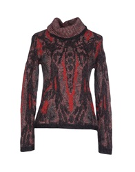 Kangra Cashmere Turtlenecks Red