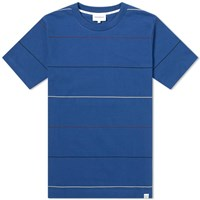 Norse Projects Johannes Thin Stripe Tee Blue