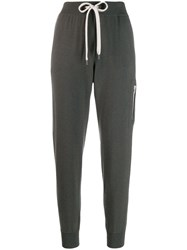 Brunello Cucinelli Knitted Track Pants Grey