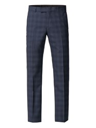 Alexandre Of England Vessey Tailored Airforce Check Trouser Blue