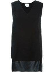 Dkny High Low Hem Tank Top Black