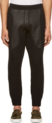 Neil Barrett Black Leather And Neoprene Lounge Pants