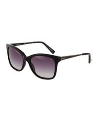 Nina Ricci Stripe Detail Square Acetate Sunglasses Black
