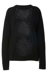 Alexis Mabille Crewneck Long Sleeve Knit Black