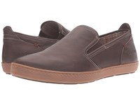 Hush Puppies Goal Roadcrew Dark Brown Leather Gum Men's Slip On Shoes