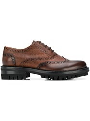 Dsquared2 Thick Sole Brogues Brown