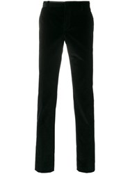 Al Duca D'aosta 1902 Slim Velvet Trousers Cotton Black