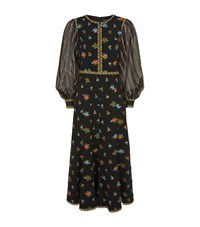 Andrew Gn Embroidered Balloon Sleeve Dress Female Black